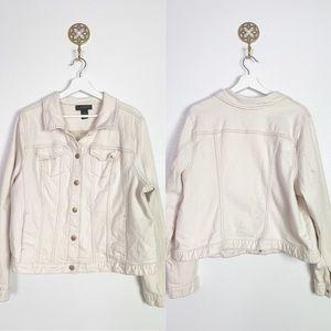 Lane Bryant cream denim jacket size 20 euc